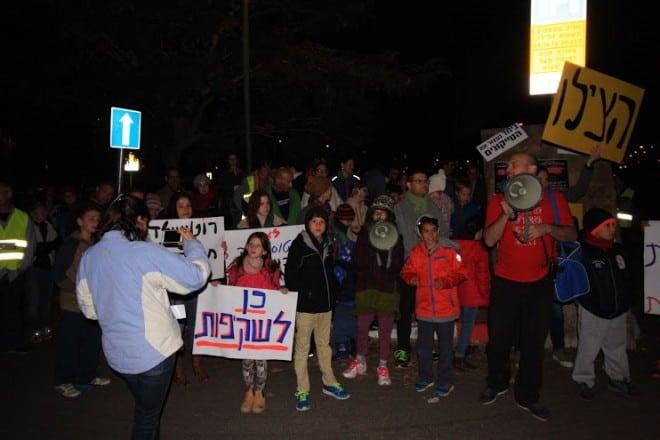 מההפגנה (צילום: שקד שיינס)