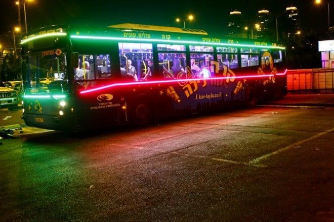 קווי לילה במתכונת סילבסטר (צילום: משרד התחבורה)