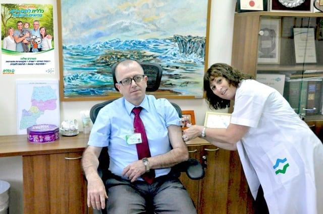 """עומס של חולים בחדרי המיון. ד""""ר סעיד מתחסן  [צילום: דוברות כללית]"""