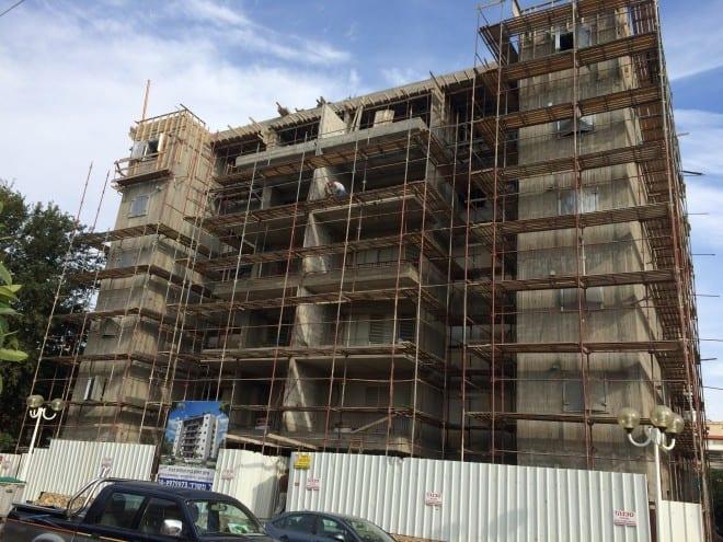 """פרויקט רמז 35 בזמן בנייה    צילום: באדיבות חברת איתן ראובן בע""""מ"""