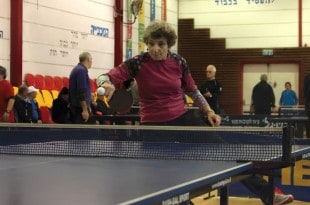 2. נטשה מיילר בפעולה במהלך הטורניר. (צילום סמיון רייבק)