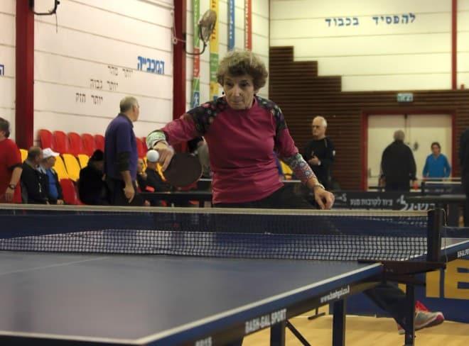 2.נטשה מיילר בפעולה במהלך הטורניר. (צילום סמיון רייבק)