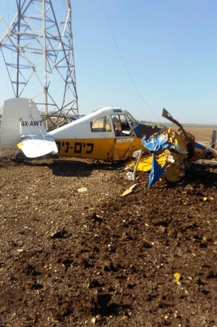 המטוס שהתרסק (צילום שלמה בן לולו, חברת החשמל)