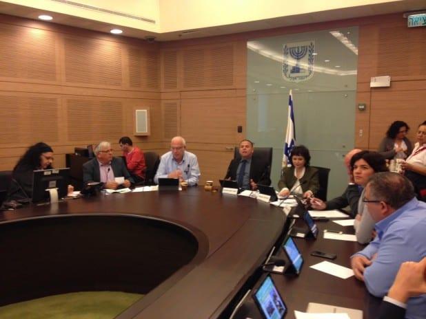 """השר אריאל בוועדת הכלכלה (צילום: יח""""צ)"""