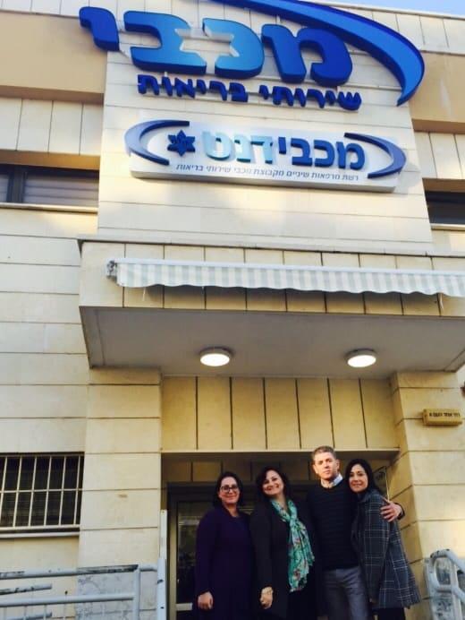 עוזי ויהודית כהן, סנדרה וסיגלית. צילום: עצמי