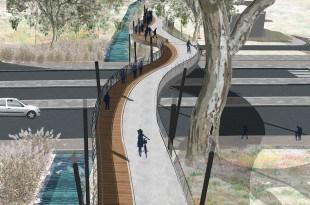 """הדמיית הגשר באדיבות """"אב אדריכלות נוף בשיתוף אדר' עופרי גרבר"""""""