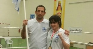חן דה גרסיה עם המאמן אוהד קורלנד (צילום: באדיבות מועדון פגאסוס)