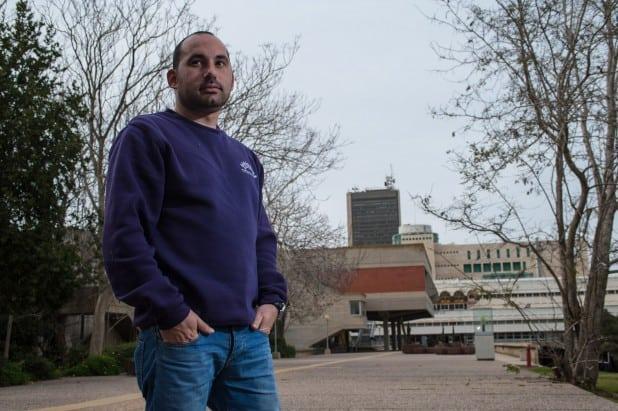 קובי רבינוביץ', יושב ראש אגודת הסטודנטים באוניברסיטת חיפה (צילום: דורון גולן)