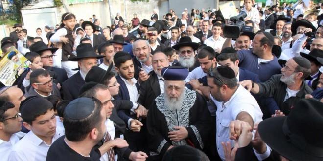 ביקור הרב הראשי לישראל בחדרה (צילום: שלומי גבאי)
