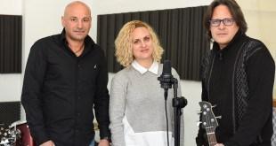 ערן תורג'מן (משמאל) עם איילת כץ ונדב קקון בבית למוזיקה (צילום: הילה אייזינגר)