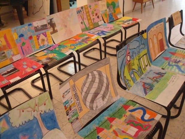 תערוכת ציורי ילדים בעזריאלי קרית אתא (צילום: באדיבות בית פישר)