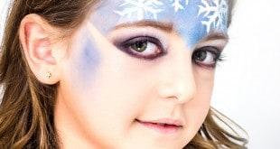 לאייר בעזרת מכחול וצבע פנים לבן. שלב 4 (צילום: ניסים פרץ)