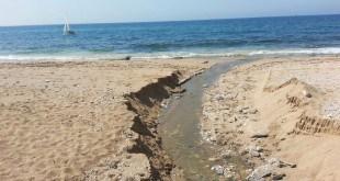 הביוב בנהריה זורם לים. בלי ביוב חדש, לא תהיה בנייה חדשה (צילום: פרטי)