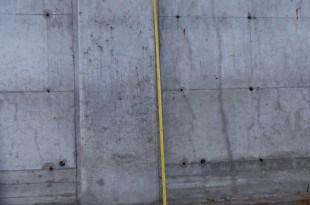 הגדר החדשה שנמדדה השבוע מגיע עד לשלושה מטרים (צילום: שלמה אברמוביץ')