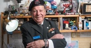 אברהם כהן, עושה שירות מילואים בגיל 81 (צילום: דורון גולן)