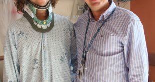 """יצא בזה בזכות התושייה. מימין: ד""""ר ברבלק וירדן קפלן אחרי הניתוח. צילום: דוברות הלל יפה"""