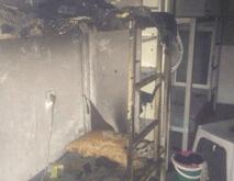 התא השרוף (צילום דוברות המשטרה)