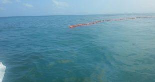 זיהום נפט בקרית ים אתמול (צילום: המשרד להגנת הסביבה)