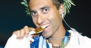 נוגס במדליית הזהב. גל פרידמן (צילום: באדיבות ערוץ הספורט)