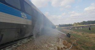 שריפה ברכבת. צילום: דוברות כבאות מחוז חוף