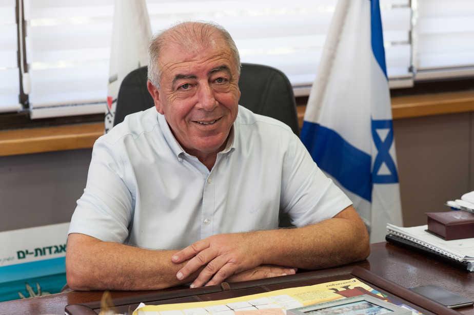 דוד אבן צור, ראש עיריית קרית ים (צילום: דורון גולן)