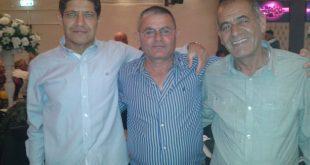 """שוקי משה ז""""ל (מימין) עם שחקני העבר רונן אדלר ומאיר וקנין (צילום: עצמי)"""