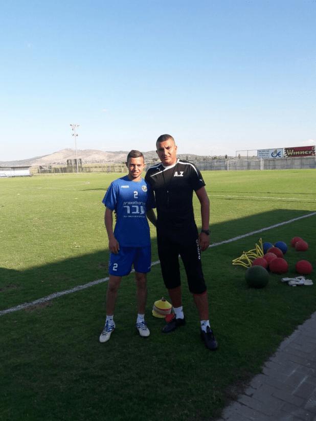 חטיב ועוזר המאמן אדהם זועבי (צילום חגאג רחאל)