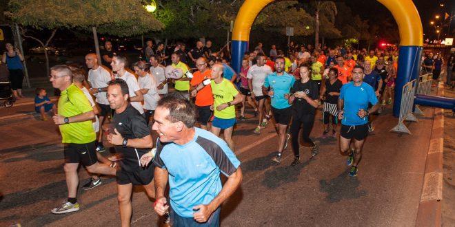 מירוץ לילה קרית ביאליק (צילום: דוברות העירייה)