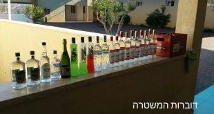 הורים, תפקחו עיניים. האלכוהול שנתפס במסיבה (צילום: דוברות המשטרה)