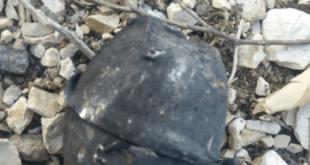 אחד הרימונים שהתגלו (צילום דוברות המשטרה)
