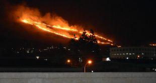 שריפה מעל נחף. צילום כבאות מחוז