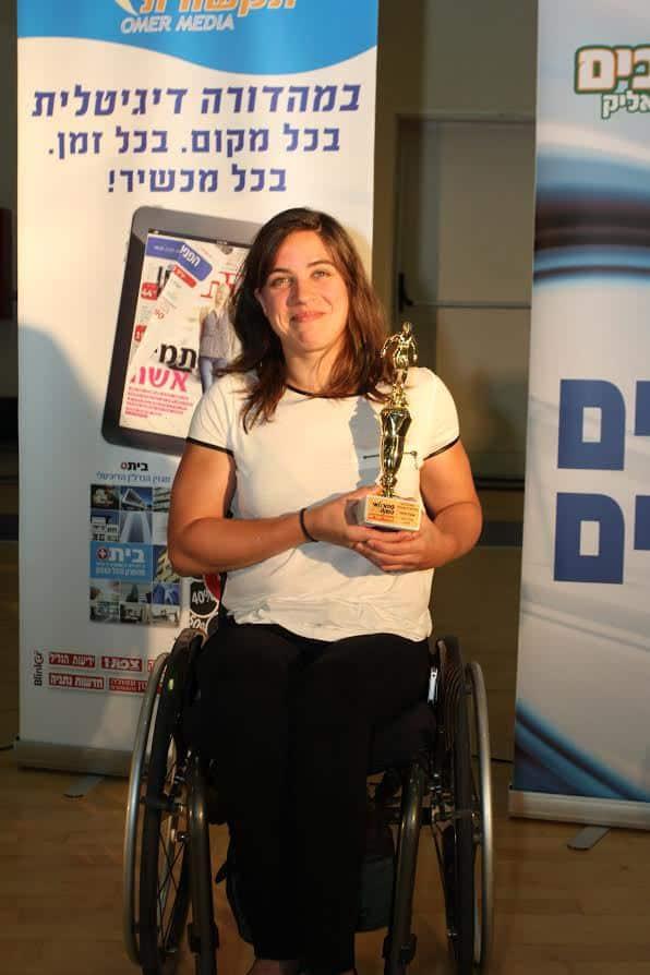 ספורטאית השנה בטקס ספורטאי השנה של הד הקריות. ענבל פיזרו (צילום: אדריאן הרבשטיין)