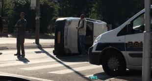 """זירת התאונה ברחוב רמב""""ם"""