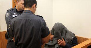החשוד בבית המשפט. צילום: אדריאן הרבשטיין