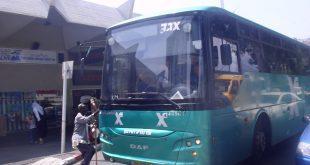 גובה הדציבלים. אוטובוס של אגד (צילום אילוסטרציה: רותם כבסה)