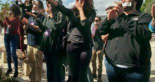 ההפגנה במכללת עמק יזרעאל
