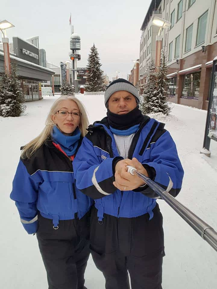 ראובן ובריגיטה סלבסקי בלפלנד צילום עצמי