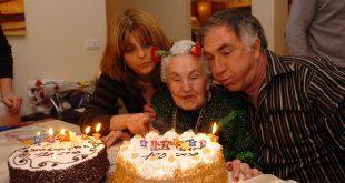 מנוחה שינקנה ביום הולדתה ה- 100