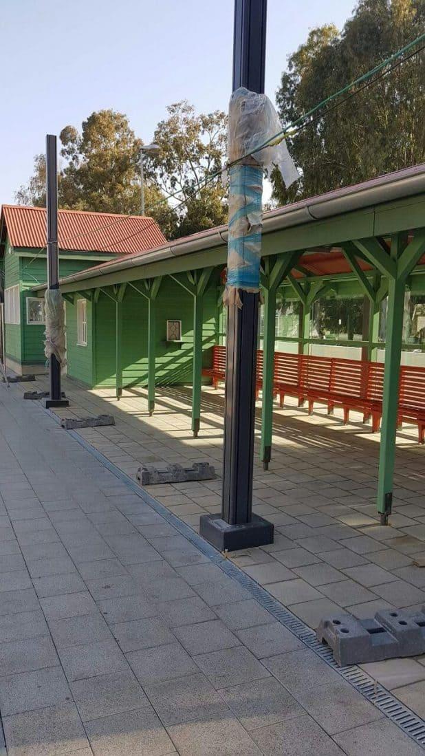 תחנת הרכבת לאחר עבודות השימור. (צילום: רכבת ישראל)