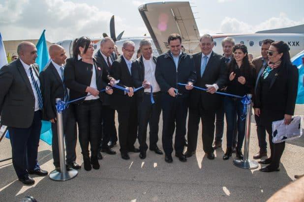 חנוכת קו תעופה חיפה-אתונה של חברת TUS. צילום: דורון גולן