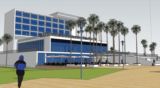 הדמיה בית מלון קריית ים. באדיבות העירייה