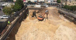 עבודות חניון מרכז העיר. צילום: עיריית קרית אתא