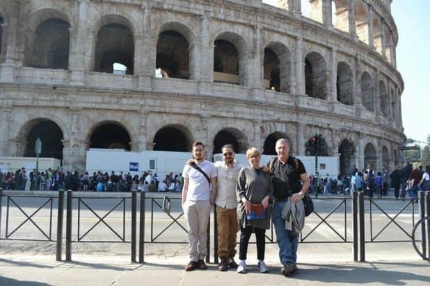 משפחת פישר ברומא (צילום עצמי)