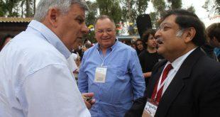 ראש העיר עם פרופ' מיטרה ויעקב הכט