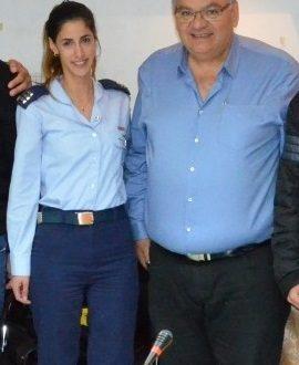 טלי אסייג וראש העיר ברדה (צילום עצמי)