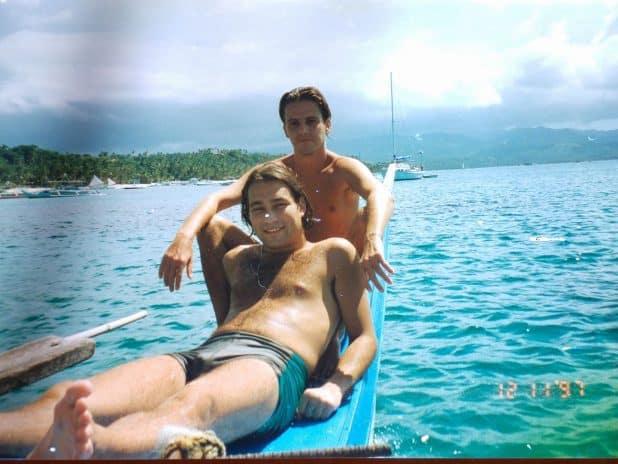 עם אופיר ברנס בפיליפינים צילום: עצמי