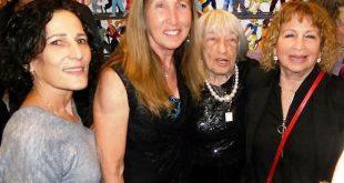"""המאמנת הדגולה וחניכותיה. מימין: רותי אבלס פלד, אגנס קלטי, חגית דיסקין זייף וד""""ר אורלי בלוט ניקלס"""