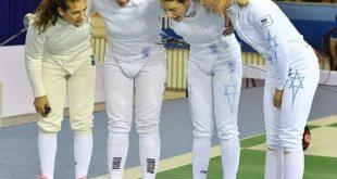 סייפות נבחרת ישראל, רגע לפני פתיחת האליפות (צילום: יעקב פרדמן)