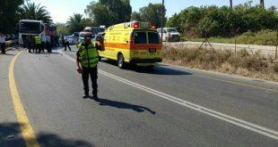 מקום התאונה (צילום דוברות המשטרה)
