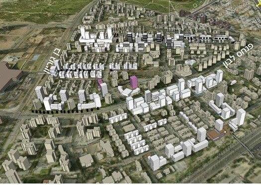 קריית נורדאו העתידית (הדמיה: מהנדס העיר)